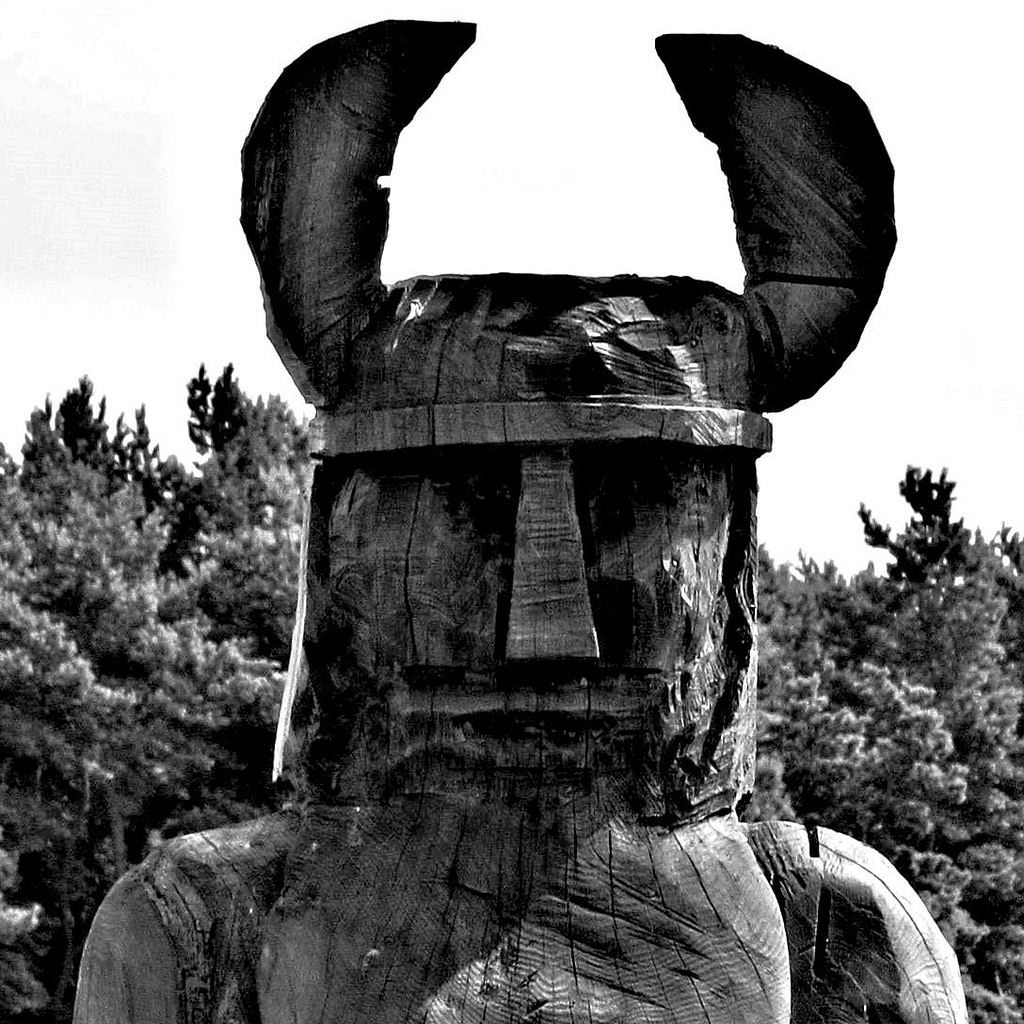 A viking sculpture on the island of Saaremaa, Estonia.