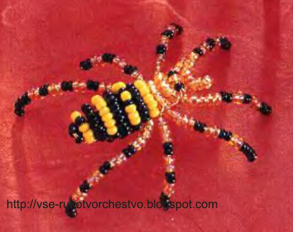 поделки из гофрокартона своими руками.  Паук бисероплетение Плетение бисером.  Схемы паук из бисера - Бисер.