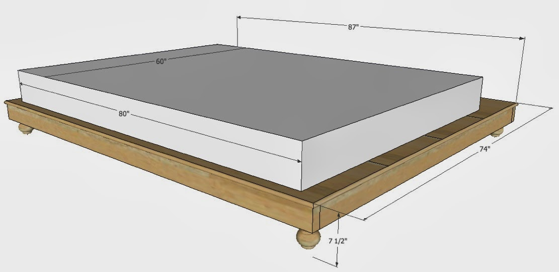Gallery For Queen Bed Dimensions In Feet