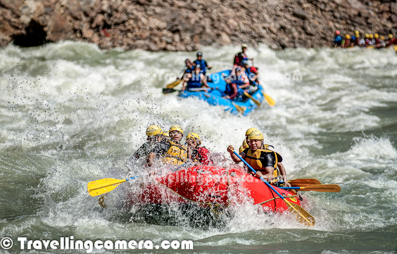 Adventure is the first word that comes to mind when we hear about Rishikesh. Rafting is of-course the primary adventure sport of Rishikesh but now there are various companies with are organizing Rock Climbing, Rappelling and Trekkings around Rishikesh. There is another company which is specialized for Bungy Jumping and Flying-Fox. Let's check out from Photographs and exciting videos from our latest trip to Rishikesh, Uttrakhand (INDIA).Here is an interesting video of Bungy Jumping. Swapnil was the first one to try this and then one more group member did it.Rumjhum, Sanchit & Garima enjoyed Flying Fox at Rishikesh. This sounded more exciting to me. Garima really had fun doing Flying Fox as well as Bungy Jumping at Rishikesh.We were staying at ASPEN Camps and they arranged Rock Climbing & Rappelleing for us. Although this experience was not that exciting but I am sure that there must be some great places in Rishikesh to have good Rock-Climbing & Rappelling experiences.During our stay at Rishikesh, we noticed various Rappelling places around Ganges. While we were rafting, we noticed many camps near Ganges and organizing such sports activities for guests.Rafting is no doubt a special adventure sport of Rishikesh and it's sort of synonym for Rishikesh. Majo tourism in Rishikesh is because of Rafting & spirituality associated with Ganges.Trekking to various places around the hills is one of the exciting activities that I love a lot. These were waterfalls that we explored during our stay at Rishikesh.