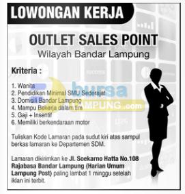 Lowongan Kerja Harian Umum Lampung Post