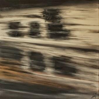 Fugaz (Estudio del movimiento). Óleo 2012. 70x70cm