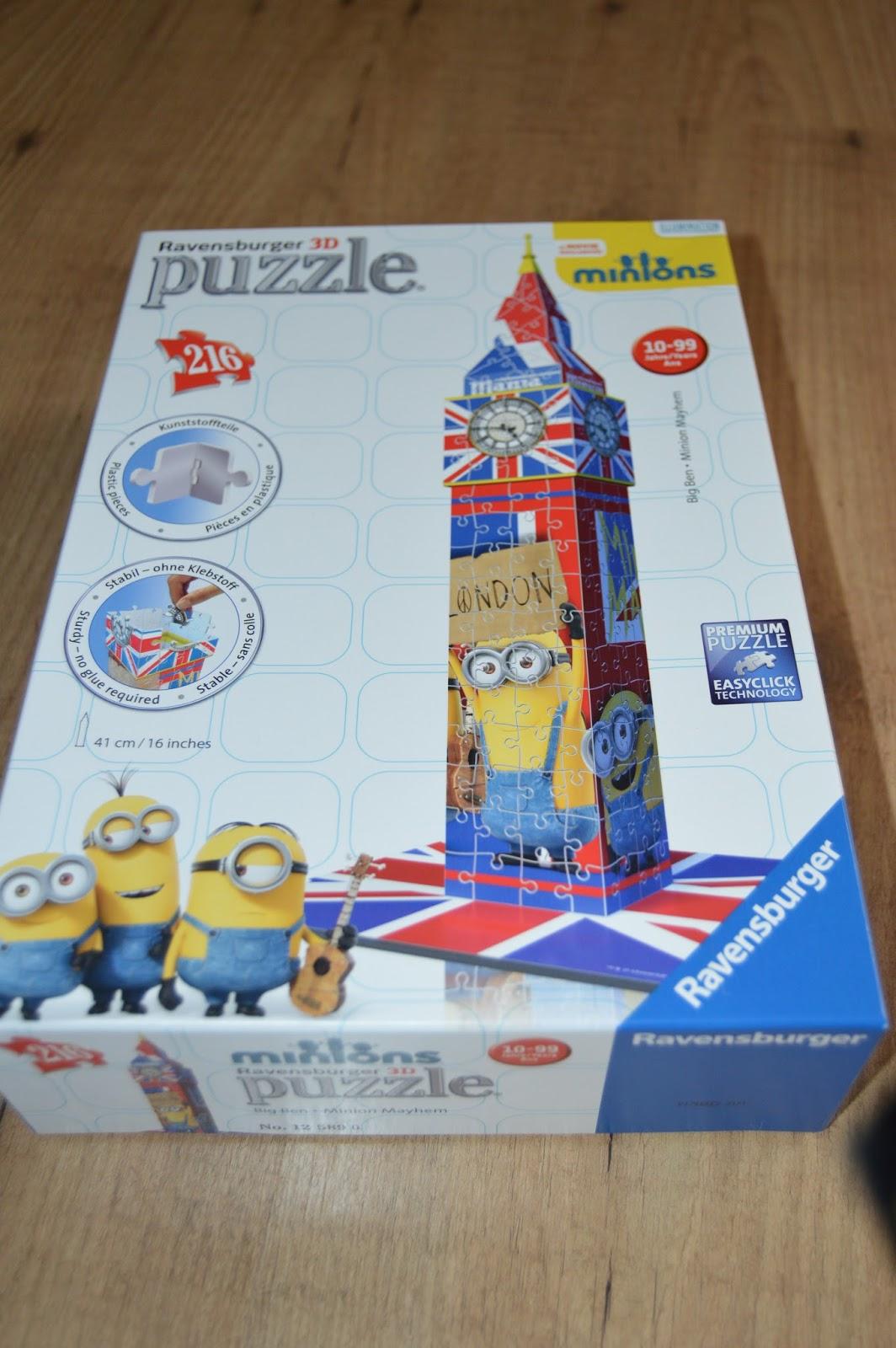 ravensburger 3d big ben minions mayhem puzzle | playdays and runways