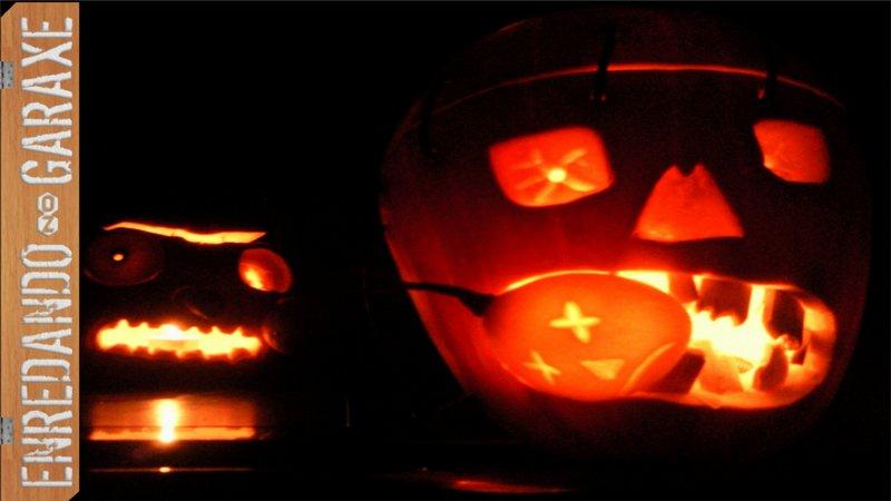 Ver como tallar linterna de Halloween, Samain 2011, enredandonogaraxe.com