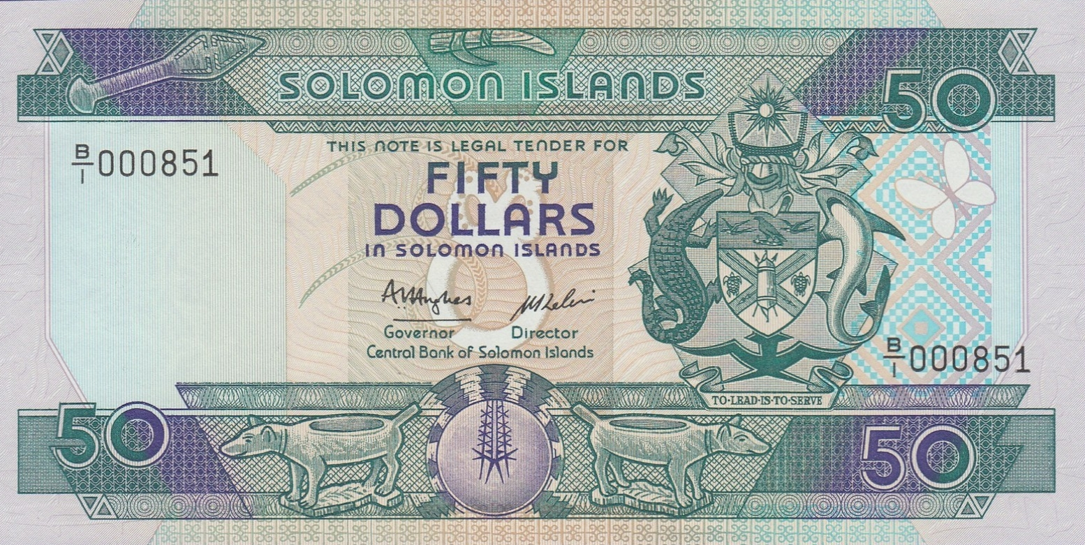 Solomon Island Bank Notes Australia