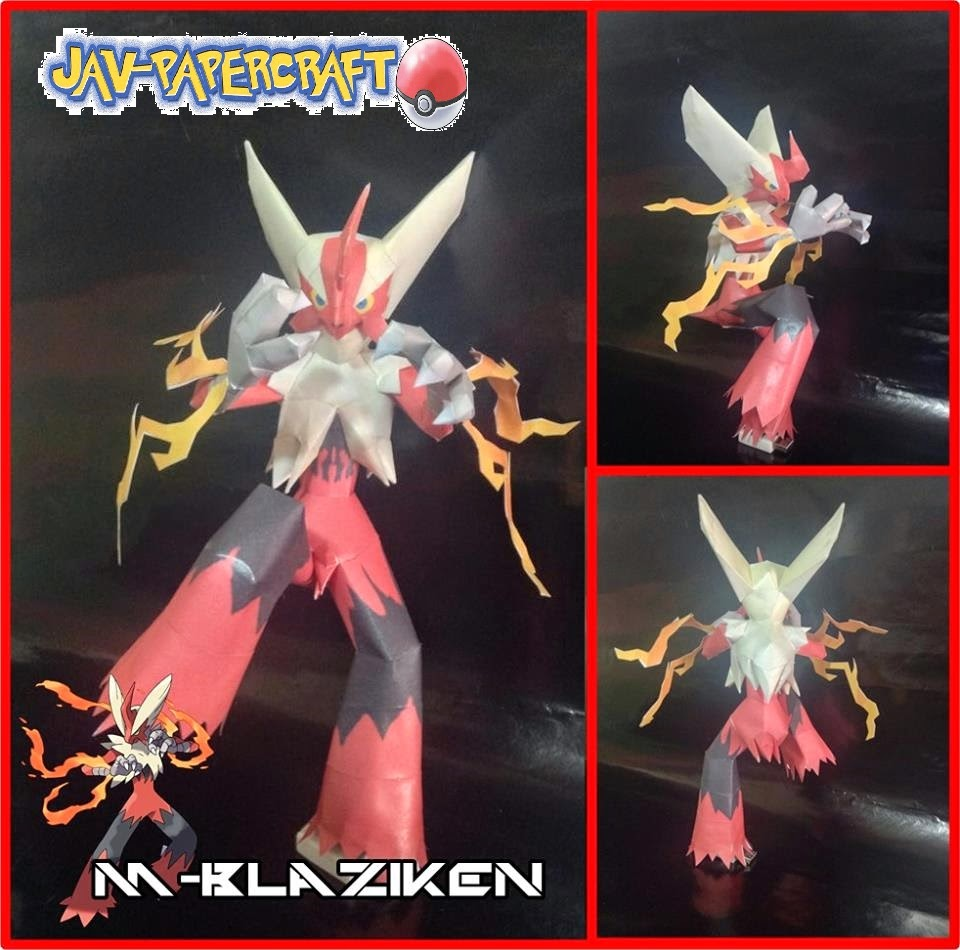 Mega Blaziken Paper Model