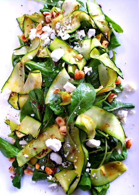 Zucchini Ribbon Salad recipe from Proud Italian Cook