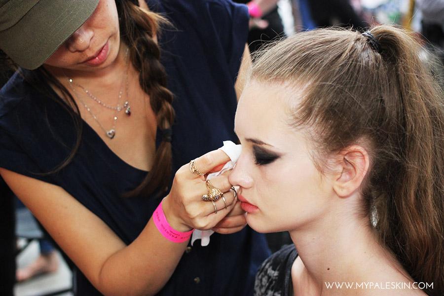 Bourjois Graduate Fashion Week backstage