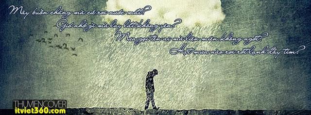 Ảnh bìa cho Facebook mưa | Cover FB timeline rain, boy cô đơn bước dưới mưa