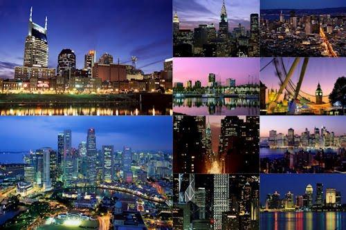 Vistas nocturnas de la ciudad cerca del mar (10 fotos)