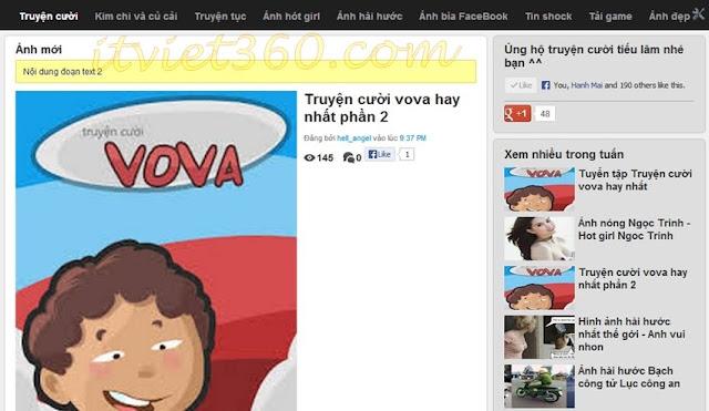 Template Hài VL cho blogspot - Haivl blogger