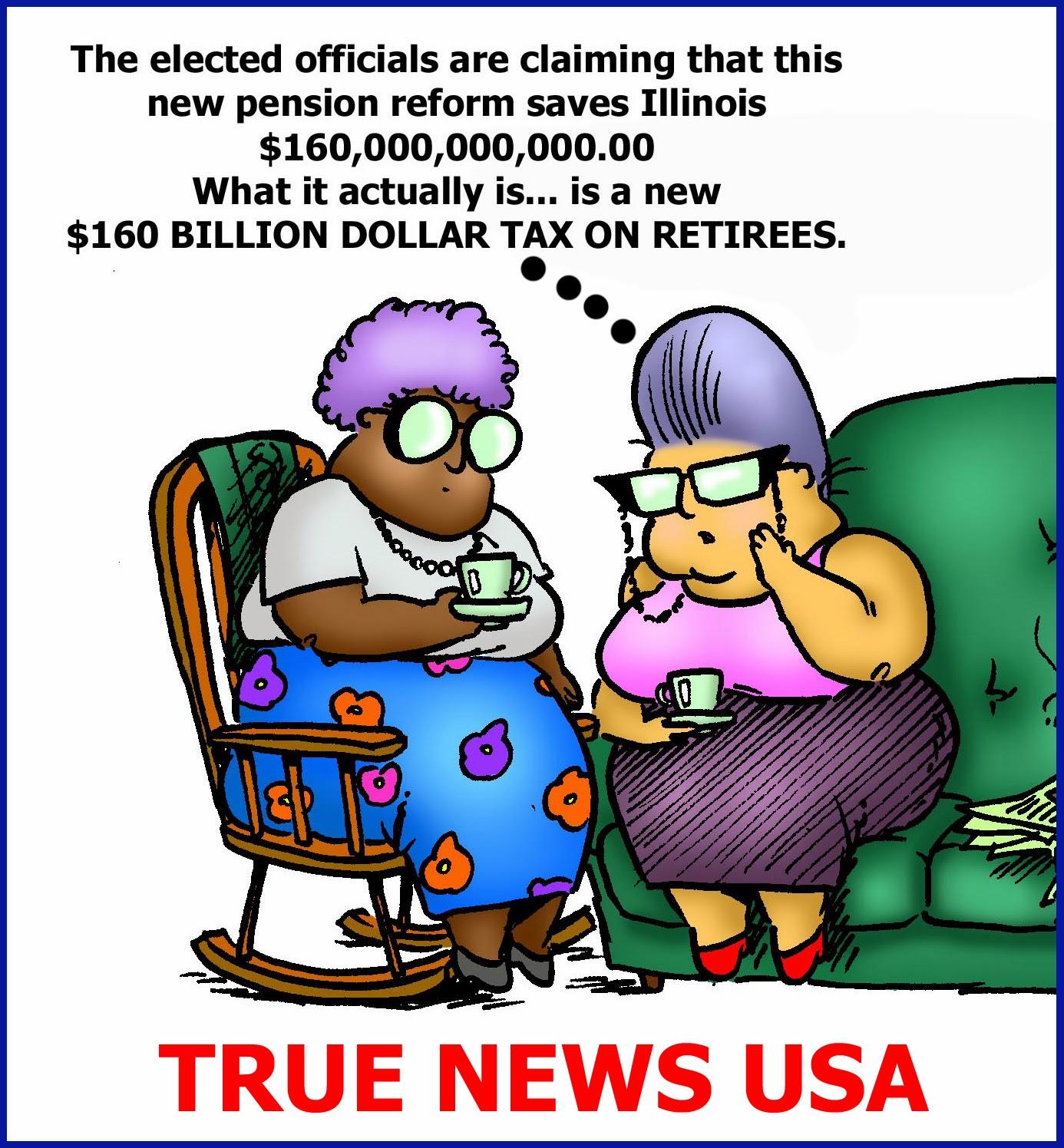 News USA: Illinois Pension Reform Cartoon of the Day - True News USA