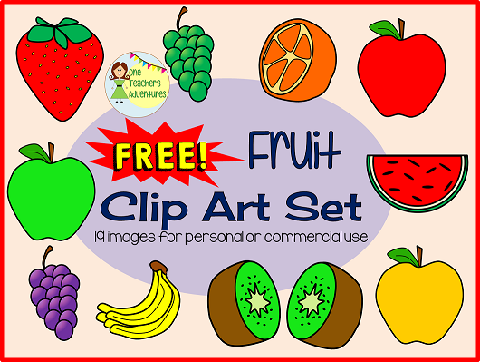 https://www.teacherspayteachers.com/Product/FREEBIE-Fruit-Clip-Art-Set-19-images-for-personal-or-commercial-use-1868416