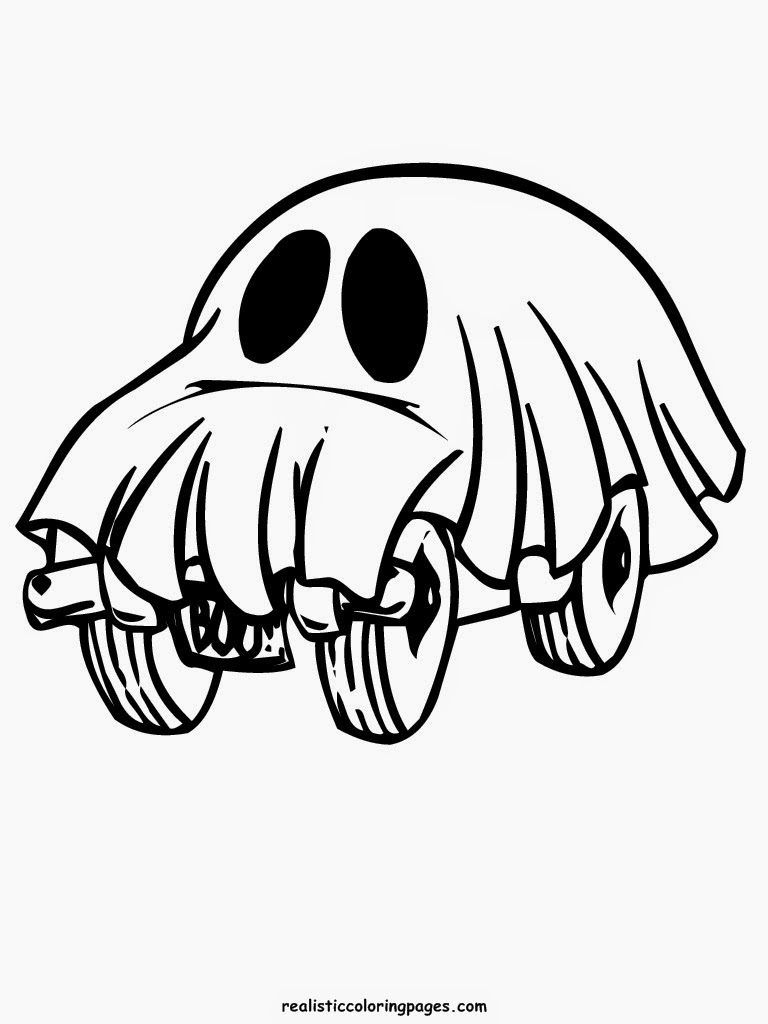 realistic halloween coloring pages - photo#44