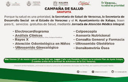 Este viernes, Jornada de Atención Médica Integral gratuita en la colonia Plan de Ayala