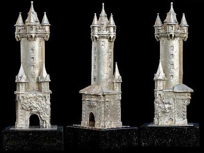 Fine Silver Souvenir Buildings