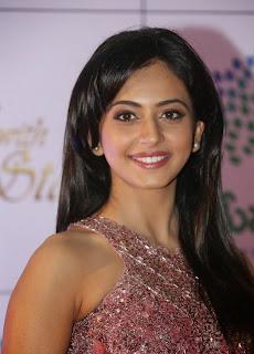 Actress Rakul Preet Singh Latest Pictures in Long Dress at Memu Saitam Dinner with Stars Red Carpet 37