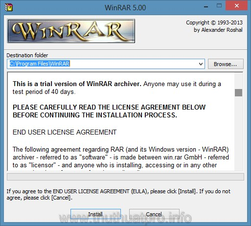 Tải về WinRAR 5.0 Final Full Key