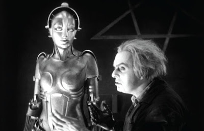 The great mechanical invention of C.A. Rotwang - the Inventor, part acted by by Rudolf Klein-Rogge, Metropolis (1927), Directed by Fritz Lang