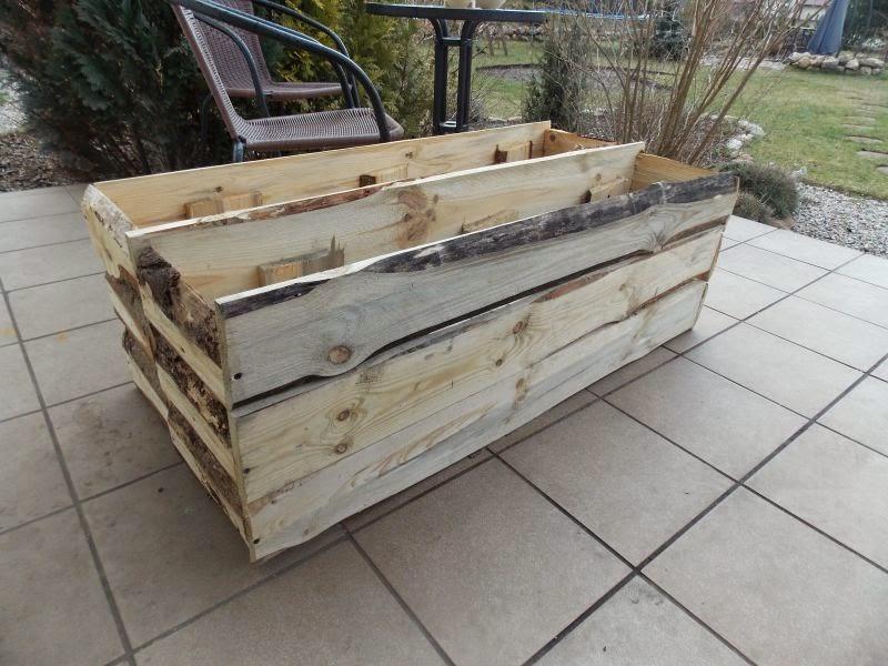 Skrzynie drewniane na taras