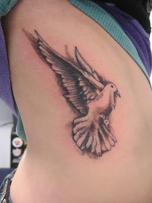 Tatuaje Paloma blanca