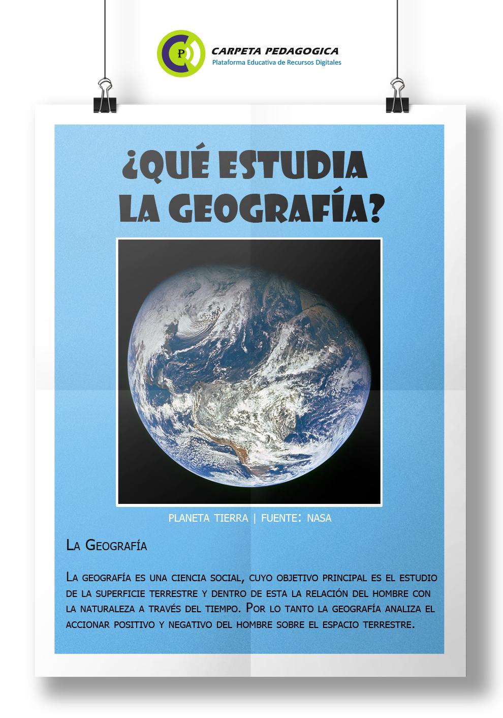 ¿Qué estudia la Geografía?, Geografía