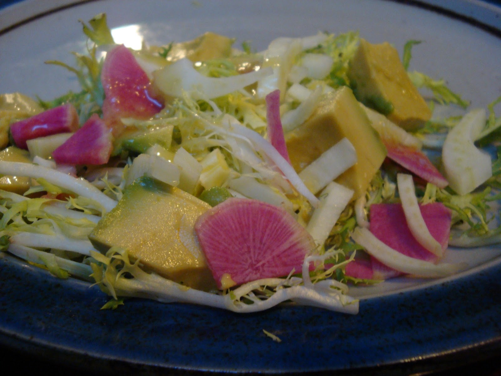 Stealth Cooking: Watermelon Radish, Avocado and Fennel Salad