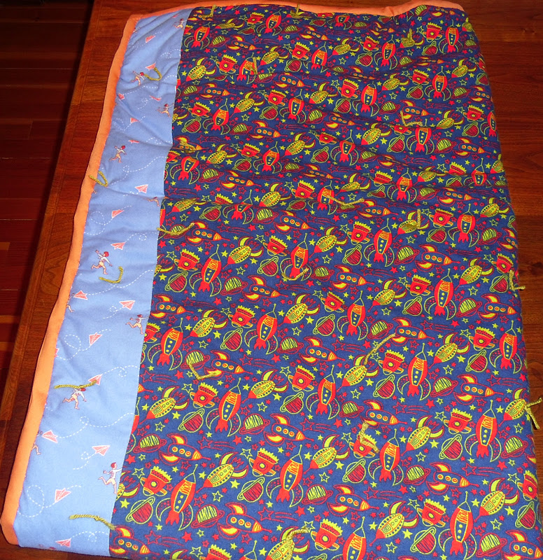 Katie 39 s comforters guild fabric and four new blankets for Space themed fabric