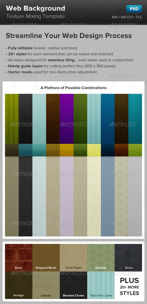 Web Background Texture Mixing Template