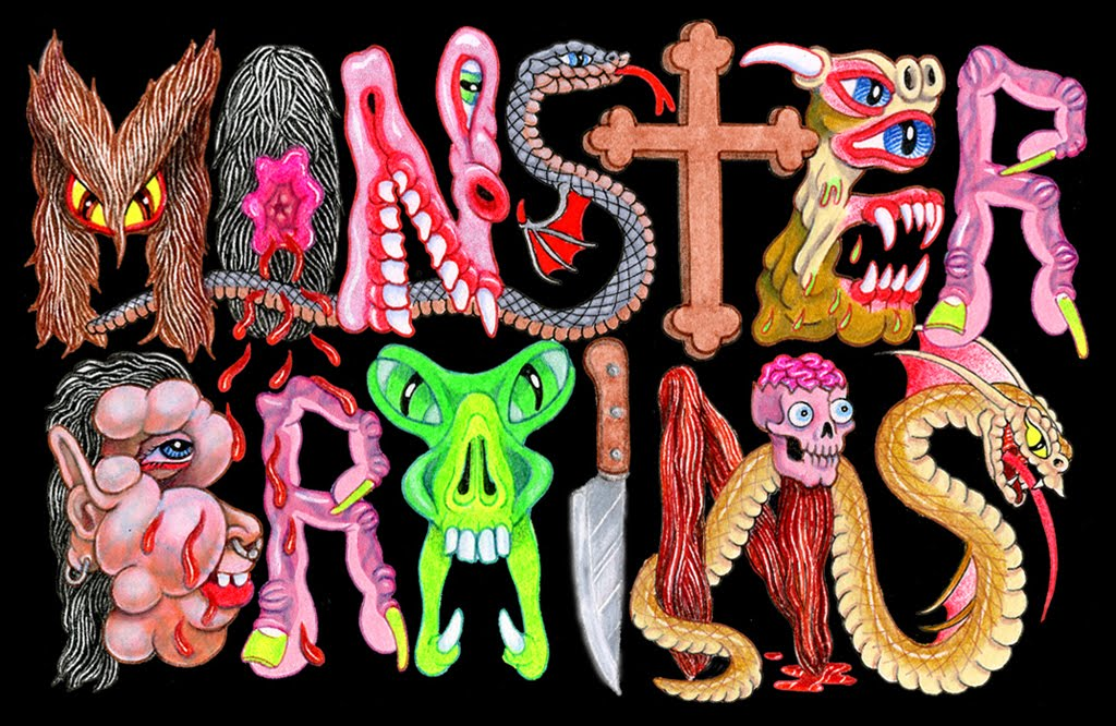 Monster Brains logo illustrated by Matt Furie.