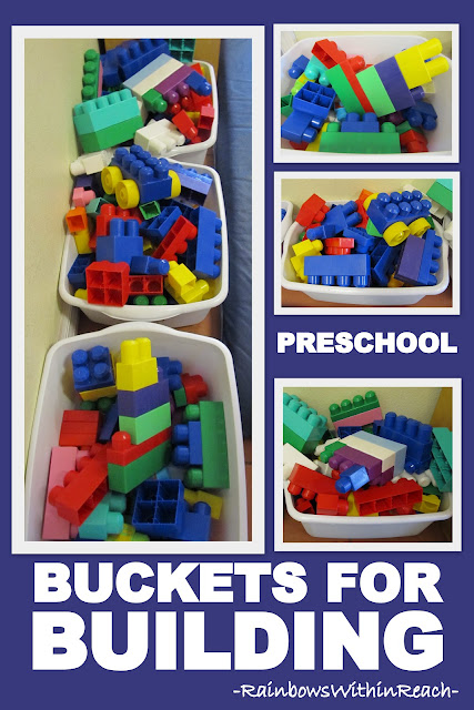 photo of: Building Materials, Fine Motor Manipulative Materials -- Organized in Bins