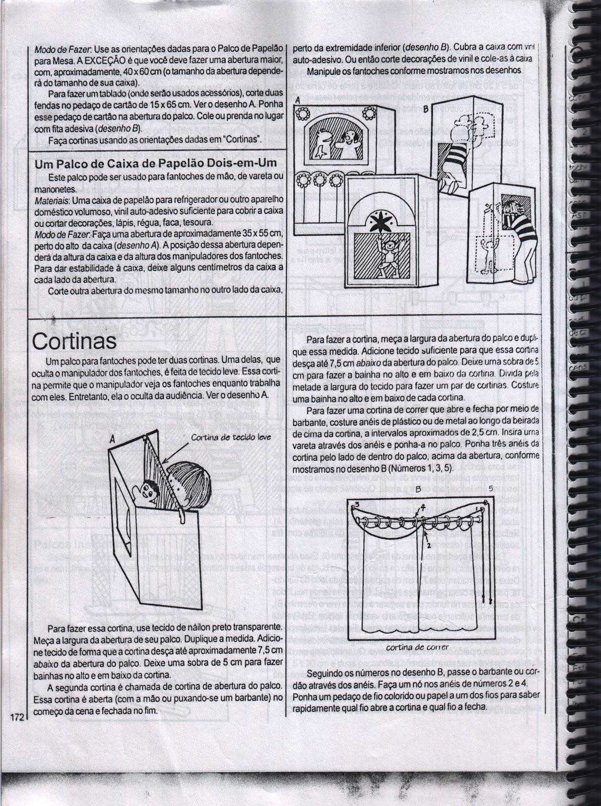 #5F5972 Montagem de Teatro de Fantoche com Sucatas 832 Manual De Montagem De Janela De Aluminio