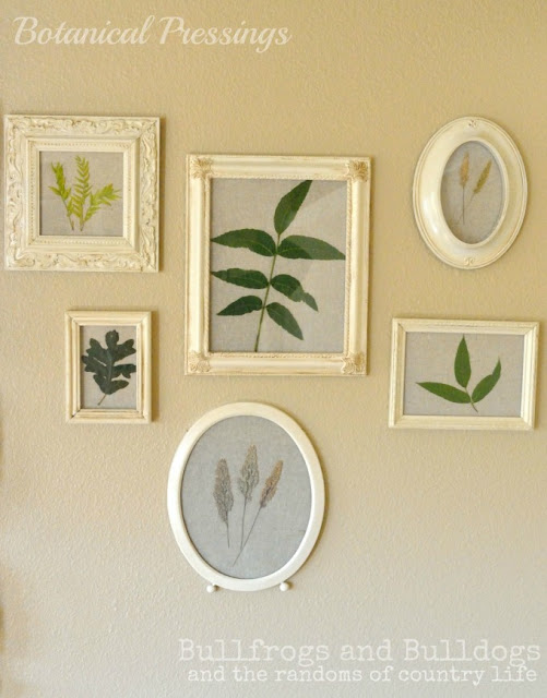 DIY leaf frames