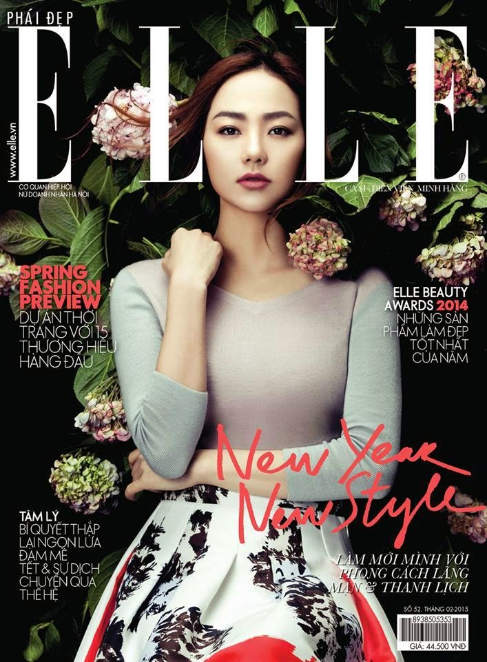 Singer: Minh Hang for Elle Vietnam