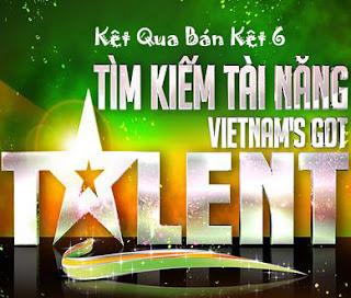 Kết Quả Bán Kết 6 - Tìm Kiếm Tài Năng Việt Nam [Tuần 15 - 10/4/2012] Online