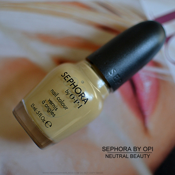 Sephora by OPI Nail Polish Color Neutral Beauty Dupe Chanel Beige Indian Beauty makeup Blog Reviews Photos Swatches NOTD