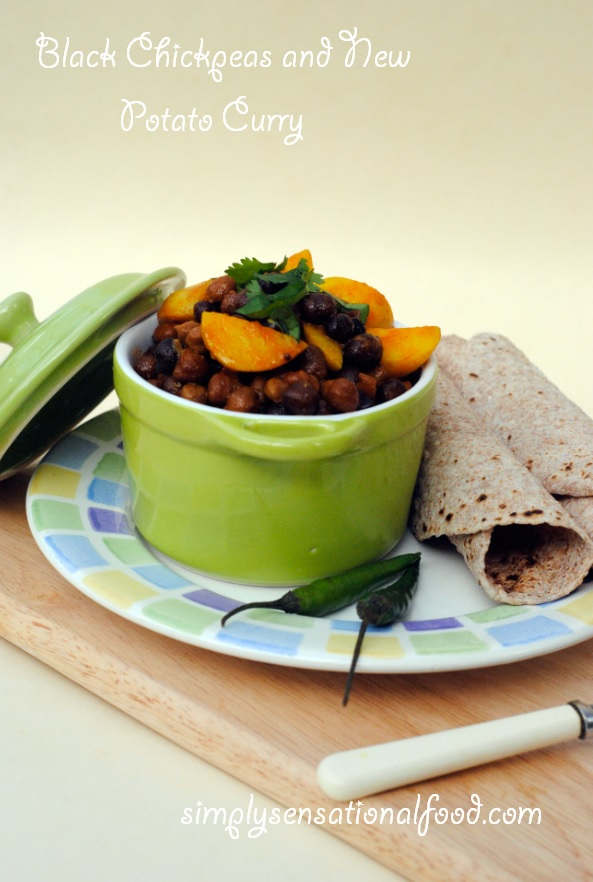 simply.food: Black Chickpeas and New Potato Curry