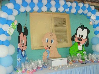 Fiestas infantiles decoraci n mickey mouse beb - Decoracion fiestas bebes ...