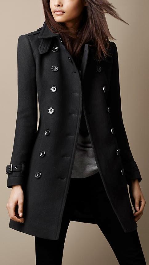Black wool coats women