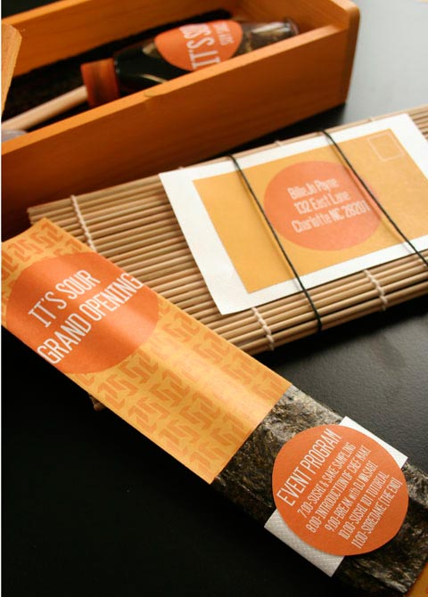 sushi packaging design