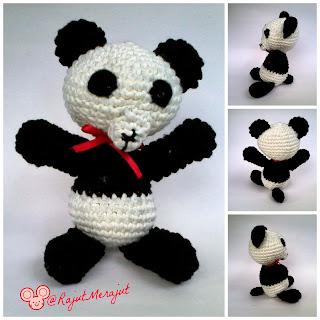 Amigurumi Panda, Panda lover, Panda Rajut, Pola Panda Rajut, Pola Amigurumi