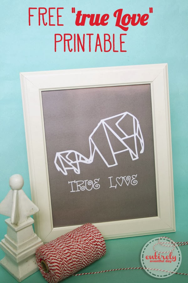 Love this Free printable. True Love! #valentines #baby #parenting www.entirelyeventfulday.com