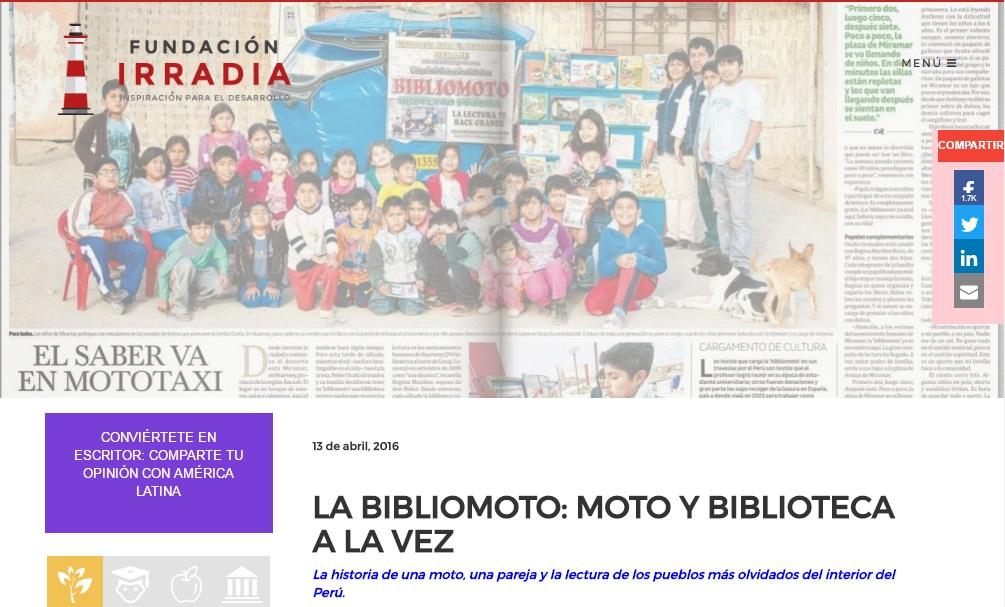 FUNDACION IRRADIA Y SOBRE NUESTRA BIBLIOTOMO