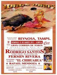 Santos, Rivera y El Chihuahua, anunciados en Reynosa, Tamaulipas, el 15/03.