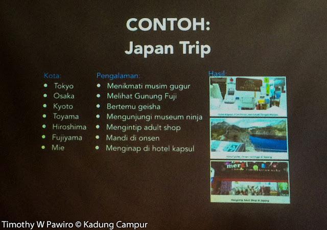 Indonesia - Jakarta - #Indonesia Flight Mini Travel Blogger Workshop - Japan Trip example