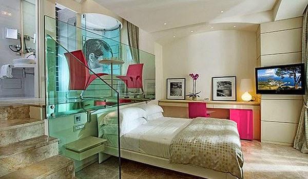 أفكار مدهشة لديكور غرف نوم فنادق