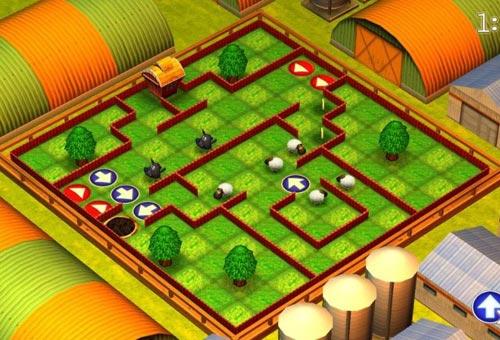 لعبة الذكاء المسلية للاطفال Running Sheep Tiny Worlds