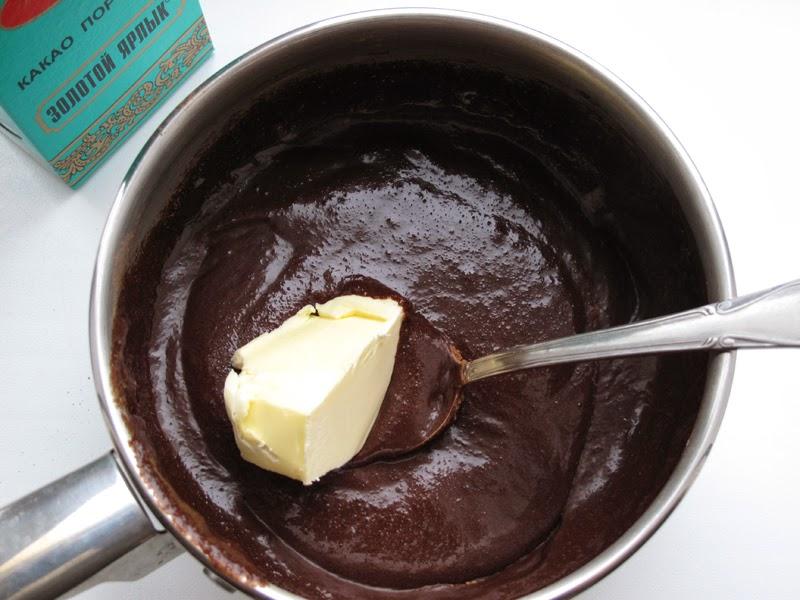 Как приготовить шоколадную глазурь с фото