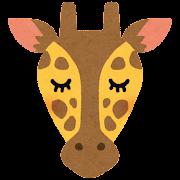 キリンの顔のイラスト