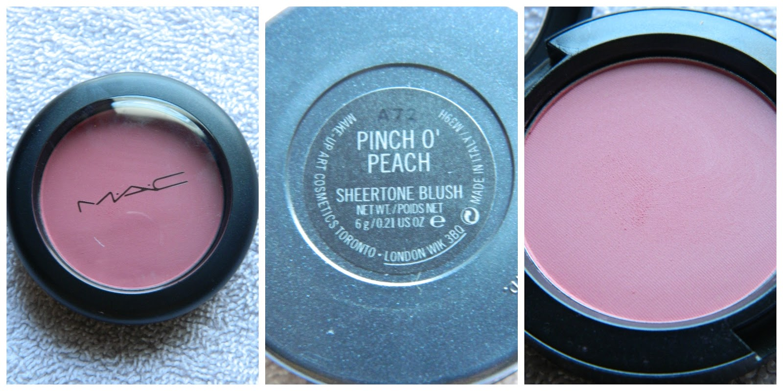 TiffanyHeartsMakeup: MAC blush comparison Pinch O' Peach ...